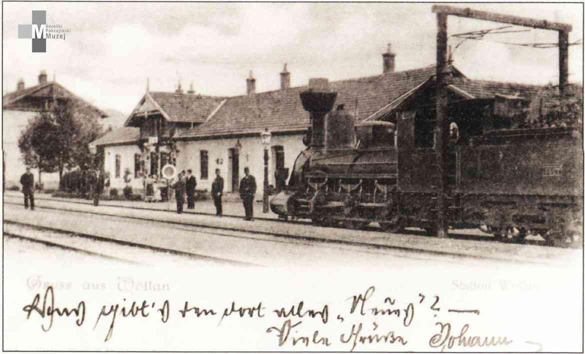 Štrekna - Železniška postaja Velenje okoli leta 1900.
