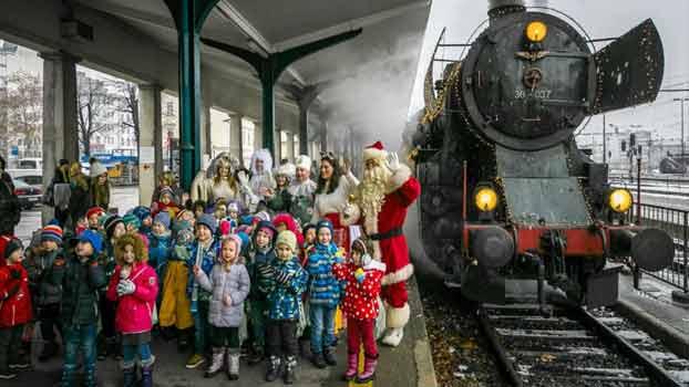 Štrekna - Praznična decembrska vožnja z muzejsko lokomotivo.