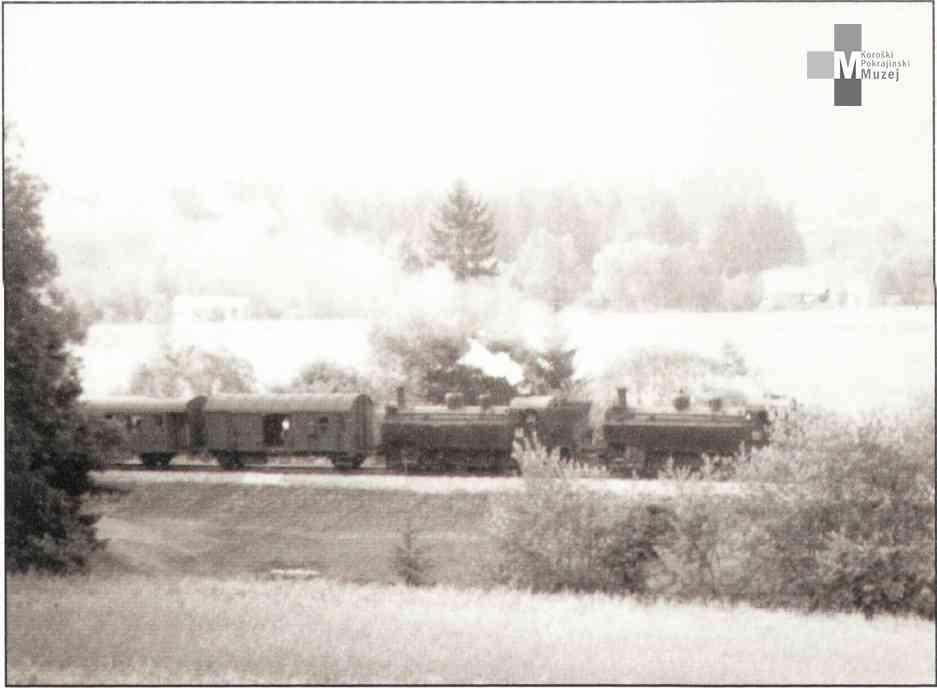 Štrekna - Zadnji potniški vlak skozi Mislinjsko dolino, 30. junij 1968.
